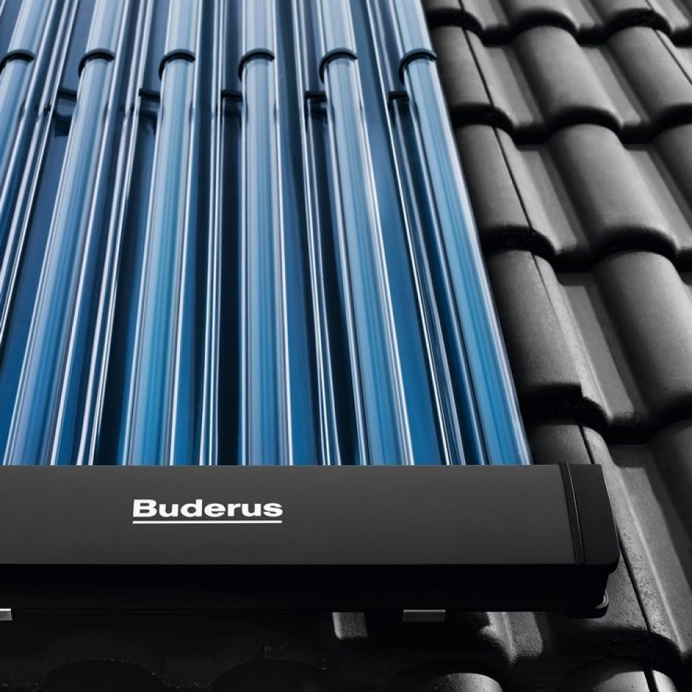 Buderus-solar-Roehrenkollektoren